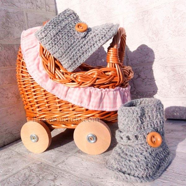 Botas de crochet para bebé