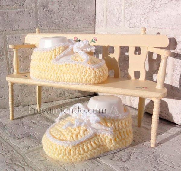 Mocasines crochet bebé