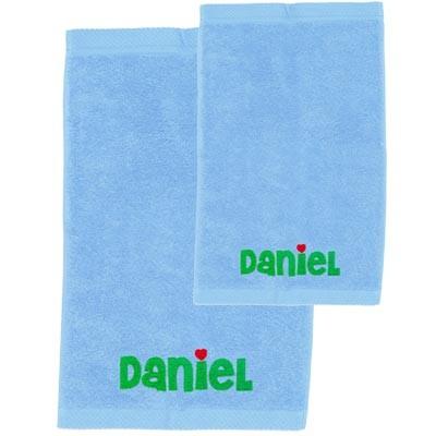 Pack toallas personalizadas celeste