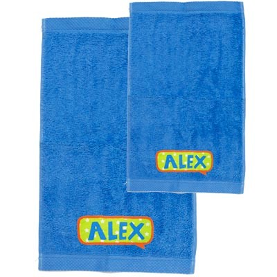 Pack toallas personalizadas azul