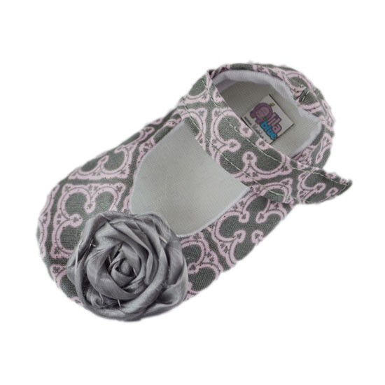 Zapatos bebé gris y rosa