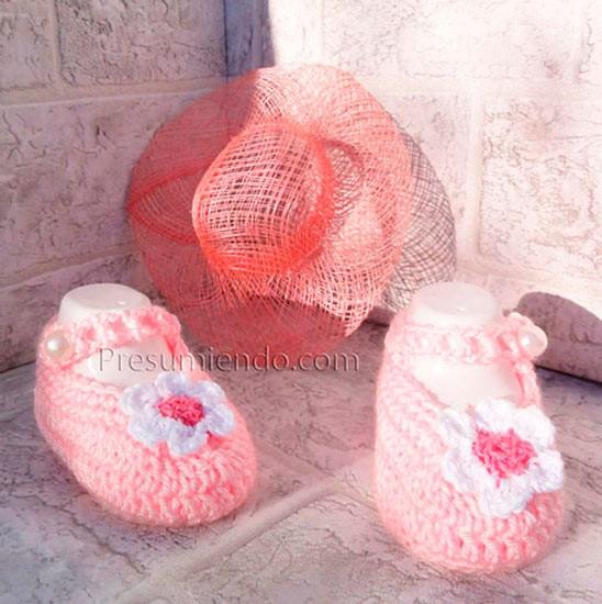 Zapatos de crochet para niña