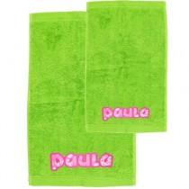 Pack toallas personalizadas verde