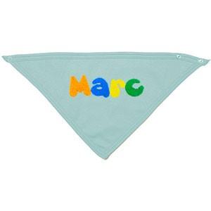 Babero pañuelo azul bebé