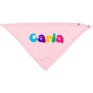 Babero pañuelo rosa bebé