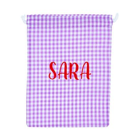 Bolsa de ropa personalizada lila