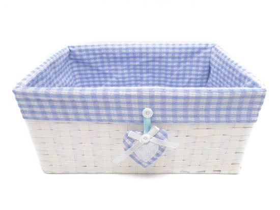 Canastilla bebé azul