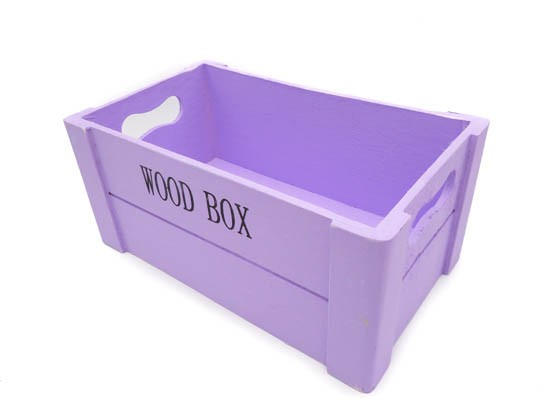 Canastilla de madera Wood Box Lila