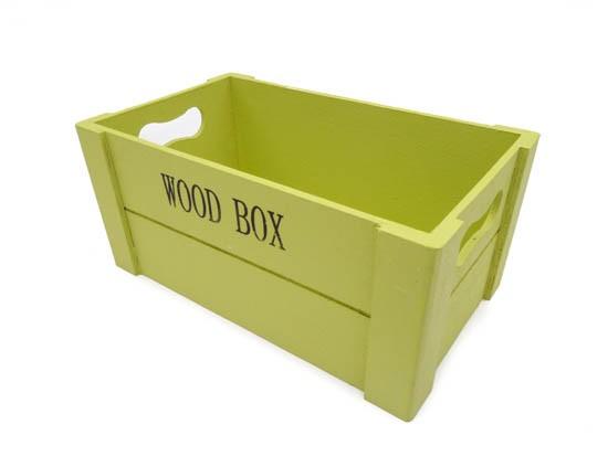 Canastilla de madera Wood Box Verde