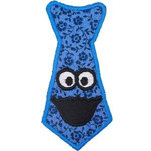 Diseño bordado Corbata Monstruo de las Galletas