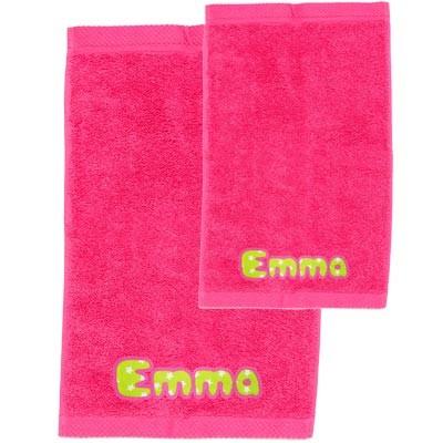Pack toallas personalizadas fucsia