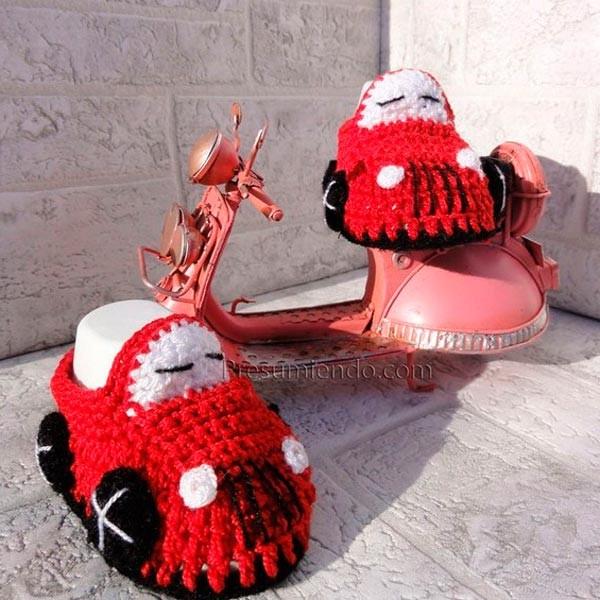 Patucos de crochet para bebé