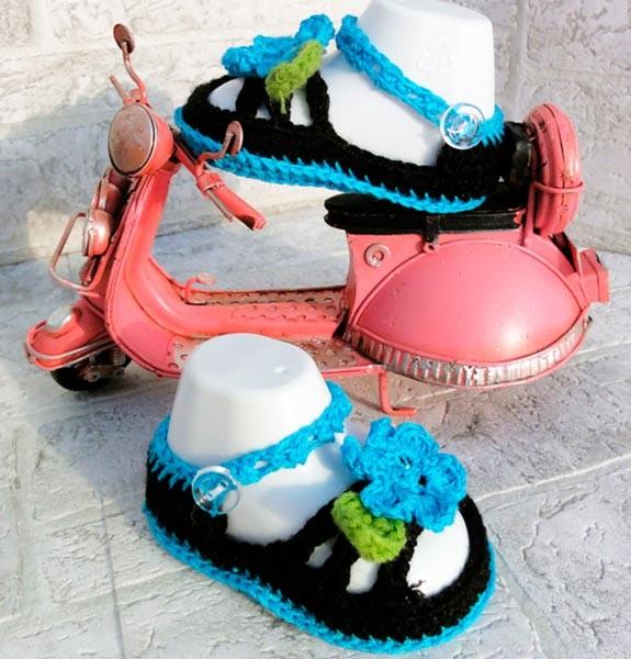 Sandalias de ganchillo para niño