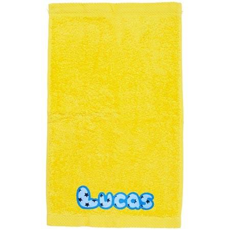 Toalla personalizada amarilla