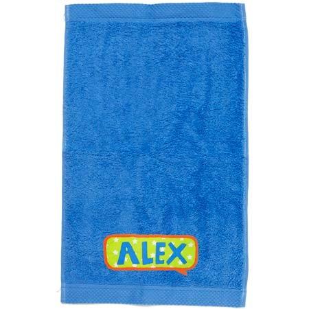 Toalla personalizada azul