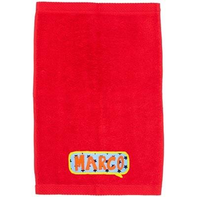 Toalla personalizada roja