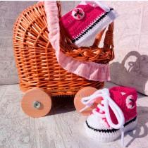 Deportivas de ganchillo para bebé