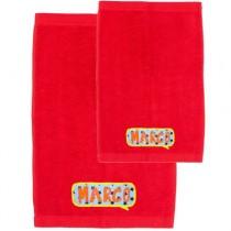 Pack toallas personalizadas rojas