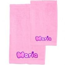 Pack toallas personalizadas rosas