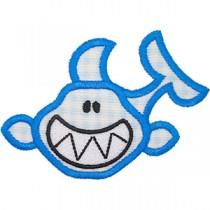 Diseño bordado tiburón