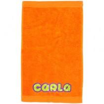 Toalla personalizada naranja
