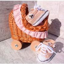 Zapatillas de ganchillo para bebé