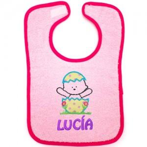 Babero para bebé rosa