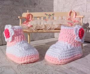 Botas de ganchillo para bebé