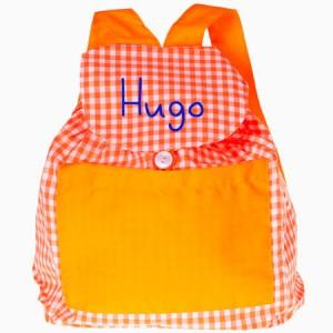 Mochila escolar naranja
