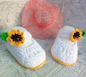 Zapatos de ganchillo para niña